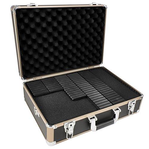 TS-Optics Flexkoffer Kamerakoffer Fotokoffer Universalkoffer inkl. Rasterschaumstoff Würfelschaumstoff Trennstegen für flexible Unterteilung