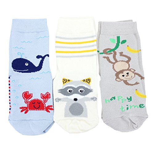 TupTam Unisex Baby Stoppersocken ABS Socken 3er Set, Farbe: Junge, Größe: 19-22