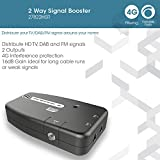 Signal Booster, SLx TV Two Output Amplifier 27822HSR With Integrated 4G Filter - Improve Picture Quality And Channel Reception - Boost Your HD TV/FM/DAB Signal. 2 Way - For HD and Freeview