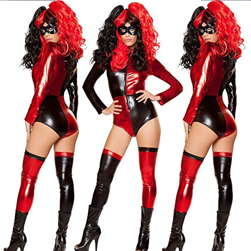 GYH Damen Skelett Knochen Drucken Jumpsuit Halloween Hexe Vampir Kostüme Bodysuit Halloween Party Sammlung Bodycon,001 - Sammlung Bodysuit