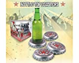 Deco.pariswebshop Bottle Cap Coasters with Spinning Hat Design