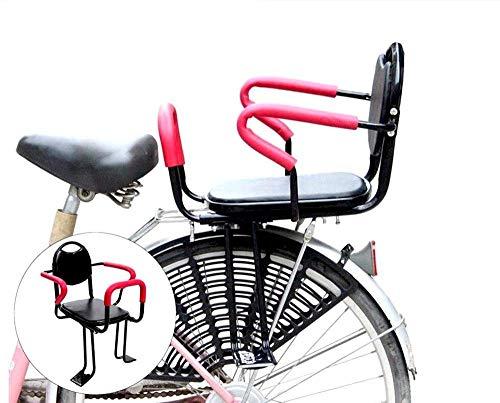 FHGH Fahrrad Kindersitz,Abnehmbarer FahrradrüCksitz Kindersitz gepolstert Fahrradkindersitz hinten Großer Kindersitz hinten SicherheitsfahrradsitzFür 2-7 Jahre Alten...