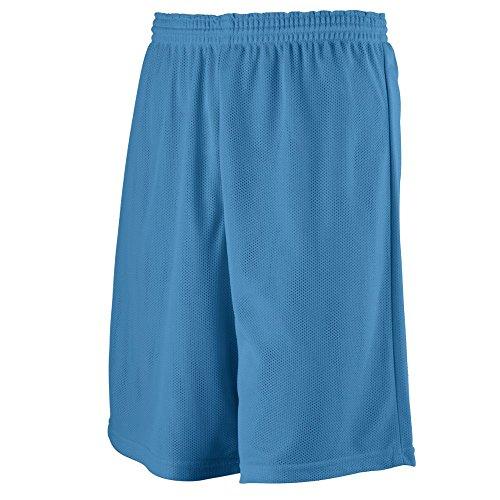 Augusta Sportswear BOYS' LONGER LENGTH MINI MESH LEAGUE SHORT L Columbia Blue