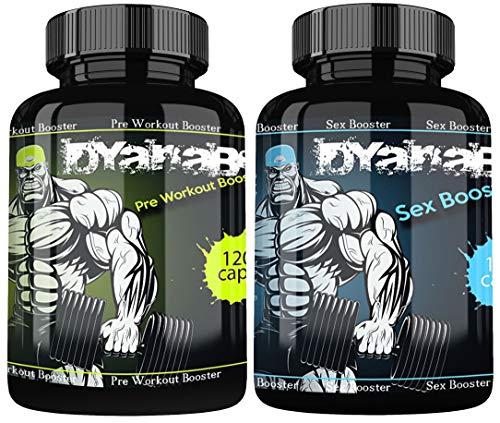 DYANABOL Pre Workout Booster und DYANABOL Sex Booster By VargPower | 220 Kapseln | Extrem Testo Booster | Testosteron Booster | Empfohlen Männer Bodybuilder