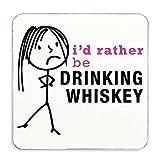 Damen Rather Be Trinken Whiskey Untersetzer Frau Geschenk Neuheit Geburtstag Weihnachten Valentinstag Geschenk