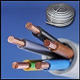 Installationskabel NYM-J 5x1,5 mm² - Kunststoff Installationsleitung - 15m / 15 m / 15 meter -PVC - grau