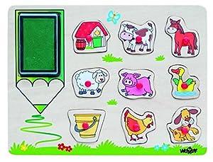 "Woodyland ""Animales Granja Sellos Set (10 Piezas)"
