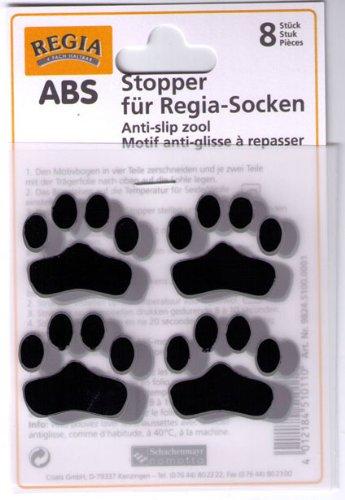 ABS Stopper zum Aufbügeln Socken Anti-Rutsch Farbe 05-schwarz