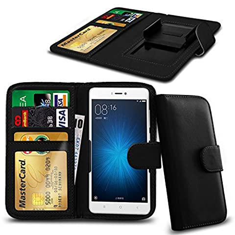 N4U Online® - Black Clip On Series PU Leather Wallet Book Case For Allview A5 Easy
