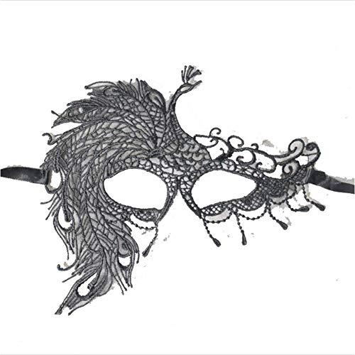 Mascherata maschere donna sexy nero glitter costume gatto pizzo maschera occhio novità gioco di ruolo per adulti e bambini in gomma ghost festival spaventoso intero cervello orrore zombie sanguinosa ossessionato puntelli