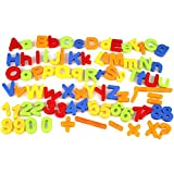Cido Magnetisch Kinder, Kinder Alphabet Buchstabe Mathe-Nummer Magnete Kühlschrank 80Stk