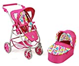 Bayer Chic 2000 638 17 - Kombi-Puppenwagen 2-in-1 Emotion, Bubbles, pink