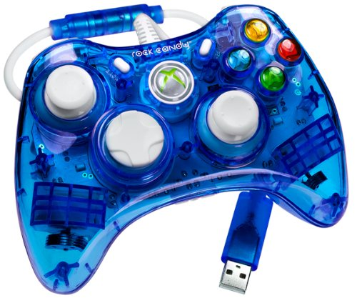 Rock Xbox Candy 360 Controller (X360 Controller Rock Candy - blau)