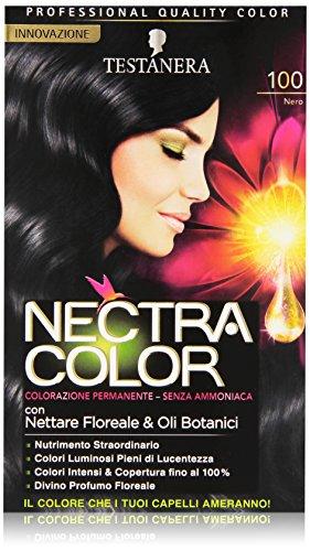 Testanera - Nectra Color, Colorazione Permanente, Senza Ammoniaca, 100 Nero