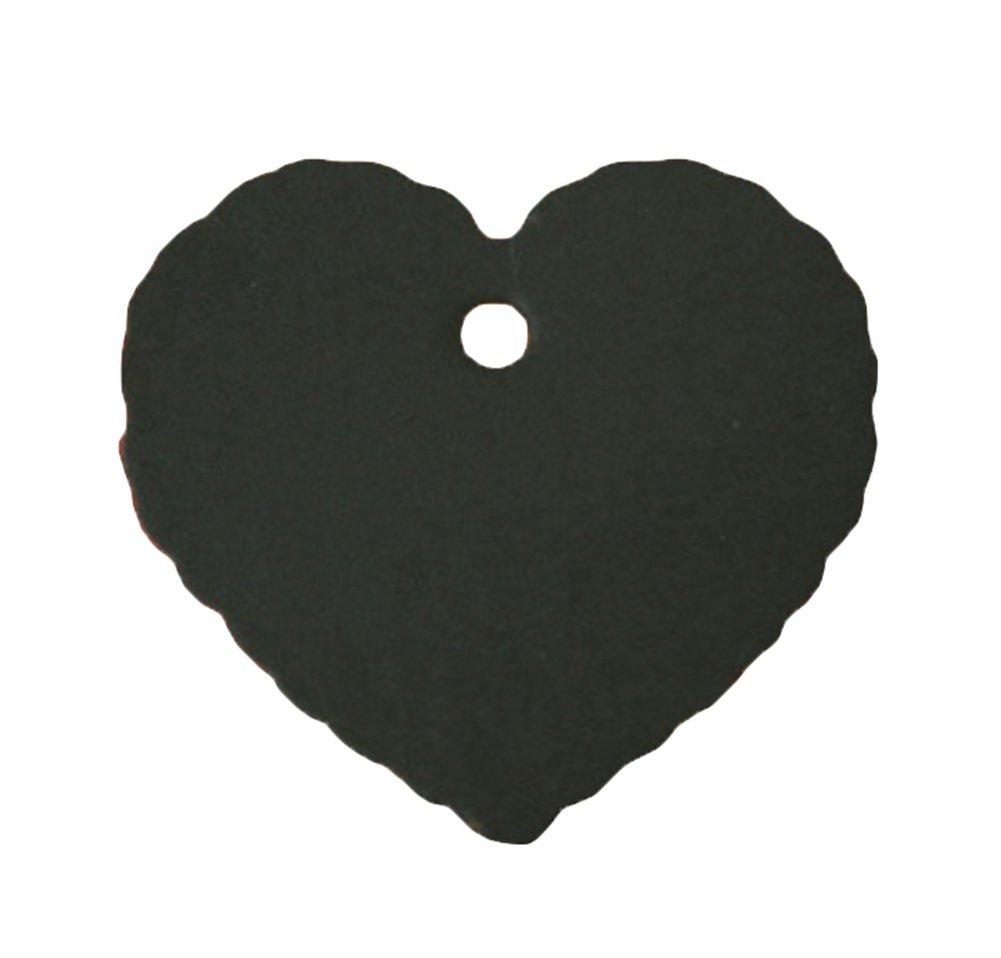 leisial 100pcs Etichette di piccola sospese di carta Kraft etichette decorazione regalo forma di cor