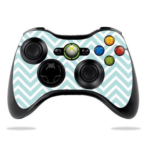 protective-vinyl-skin-decal-cover-for-microsoft-xbox-360-controller-wrap-sticker-skins-aqua-chevron-