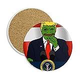 Posavasos de cerámica con imagen de rana de Estados Unidos para taza de regalo, 2 unidades