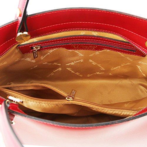 Tuscany Leather Atena - Sac cabas en cuir Ruga Beige Sacs à bandoulière en cuir Beige