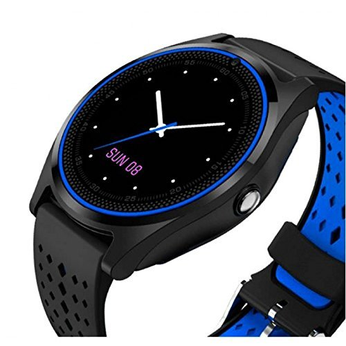 mobifox Xiaomi Redmi Note 4G Compatiable Stylish Bluetooth Smart watch V9 with Camera SIM Card Slot and Pedometer Smart Health, Wi-Fi, Sleep Monitoring, Better Display, Loud Speaker, Microphone, Touch Screen, Multi-Language Watch By mobifox
