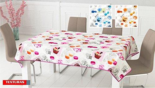 Texturas Home Secret-Tovaglia da tavolo Macaron 120110, varie misure disponibili 145_x_200_cms arancione