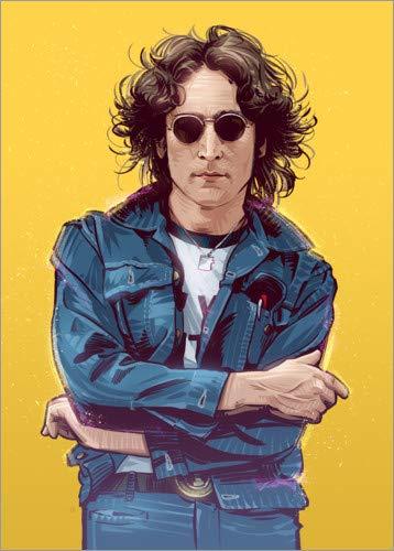 Posterlounge Holzbild 120 x 160 cm: John Lennon von Nikita Abakumov