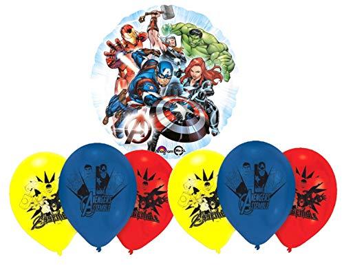 Libetui Avengers Helden Luftballons Kinder Geburtstag Deko-Set Happy Birthday Deko-Luftballon Balloons (Avengers Geburtstagsparty Die)