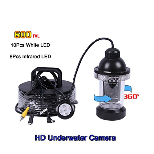 360° Unterwasser Angeln Kamera-Kit w/600TVL CCD CMOS Tauchen Angeln Kamera 17,8cm LCD-Bildschirm