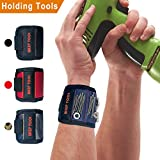 Magnetic Wristband With 10 Powerful Strong Magnets for Holding Screws Nails, Scissors, Bits, Fasteners, Washers, Bolts, Small Tools and Much More a Unique and Tool Gift Item For - DIY Handyman, Men, Women, Dad, Husband, Boyfriend (Blue)