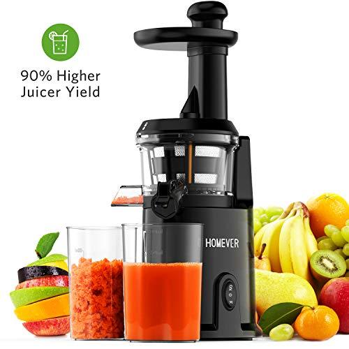 Extracteur de Jus de Fruits et Légumes, Homever Extracteur de Jus utilisation pour extraire plus de Nutriments et de Vitamines, facile...
