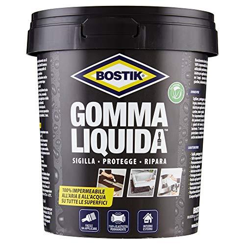 Bostik Gomma Liquida rivestimento a base di gomma per sigillature, protezioni e riparazioni 100% impermeabili 750ml nero