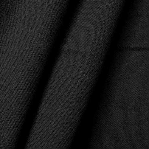 STOFFKONTOR 100% Baumwolle Canvas Stoff Meterware Schwarz - Baumwoll-canvas Stoff