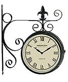 Gardman Reloj de estación, en Color Negro, 43x 39x 10cm, 17238