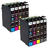 LxTek 10 Druckerpatronen Kompatibel Ersatz für Epson T1281 T1282 T1283 T1284 für Epson Stylus S22 SX125 SX130 SX230 SX235W SX420W SX425W SX430W SX435W SX438W SX440W SX445W BX305F BX305FW