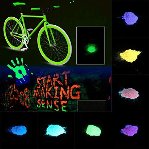 Ceanfly Fluoreszierende Pulver 10g Wasserbasierte Langlebige Selbstleuchtendes Farbpulver, Leuchtende Pulver Nail Art Dekoration, Farbpigmente -