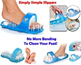 #4: Bathroom Accessories - Shower Foot Scrubber Feet Brush Massager   CLEANER SLIPPER/EASY BATH BRUSH/SHOWER FOOT FEET CLEANER/PEDICURE/SCRUBBER/PUMICE STONE MASSAGER/FOOT SPA for all ages