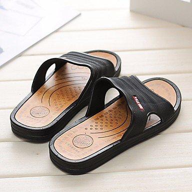 Slippers & amp da uomo;Sandali PU comfort Primavera casuale Brown nero opaco sandali US8.5-9 / EU41 / UK7.5-8 / CN42