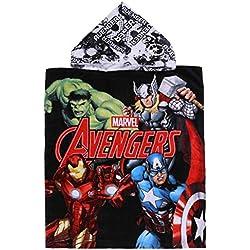 Toalla Negra Poncho Avengers Marvel