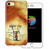 dessana Cocktail Rezepte Transparente Silikon TPU Schutzhülle 0,7mm Dünne Handy Tasche Soft Case für Apple iPhone 7 Salty Dog