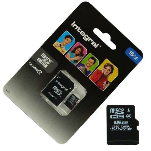 Acce2S–Scheda Memoria 16GB per Samsung Tablet Galaxy Tab 410.1Micro SD HC + Adapt SD Integral