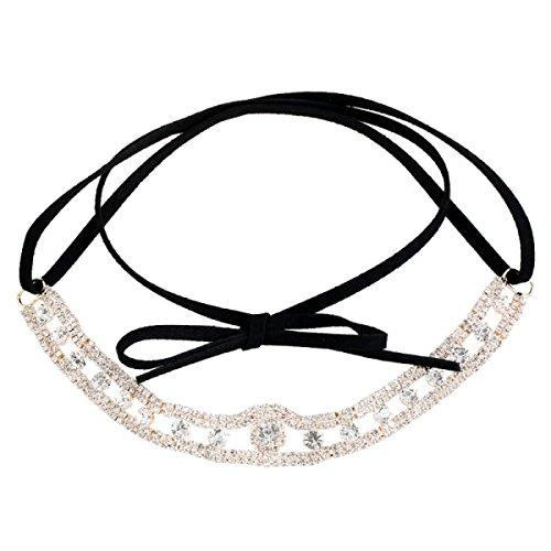 NIUWJ Fashion Fleece Band Diamant Personalisierte Weibliche Halskette,Gold-Circumference85cm*1.5cm (Gold-halskette Personalisierte)