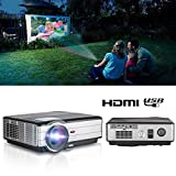CAIWEI WIKISH LED LCD Video Projector Support Full HD1080P HDMI, Warranty Included