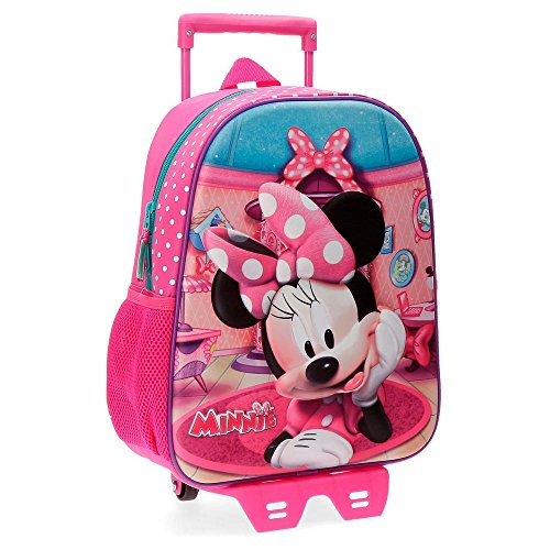 Disney 42922N1 Minnie Smile Mochila infantil, 33 cm, 9.8 litros, Rosa