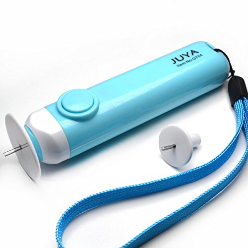 Elektrische Spule (Juya Elektrisches Quilling Werkzeug Automatisiert haben 2 Platten gut für kleine und große Spulen, Schnell Rollen(Blau))