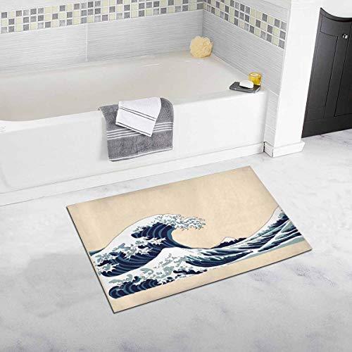 Rongpona Ola Motivo japonés Japón Casa de Campo Imagen Dibujado a Mano Ilustración Lámina de Japón Dormitorio Sala de Estar Alfombra de baño Antideslizante
