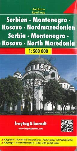 Serbia Montenegro Macedonia: Wegenkaart 1:500 000