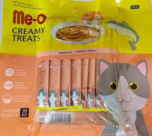 Me-O Creamy Cat Treat Salmon Flavour- (Pack of 20 Sticks)