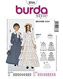 Burda 2768 Schnittmuster KostŸm Fasching Karneval Biedermeier-Kleid (Damen, Gr, 36 - 52) Level 4 fortgeschritten