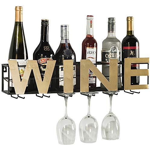Wine rack cantinetta a muro porta vino portabottiglie pensile sottosopra porta bicchiere famiglia parete ferro battuto soggiorno portabottiglie espositore