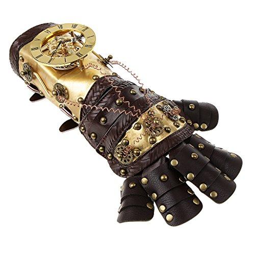 ieten Handschuhe Armband Punk Gothic Kostüm für Damen Herren - Farbe 2 ()