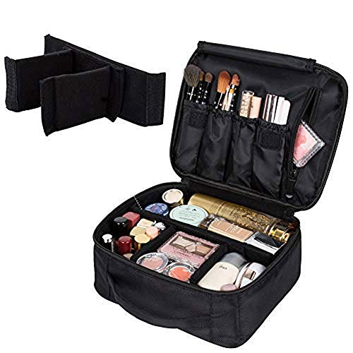 MMPY Tragbare Reise-Kosmetiktasche - Kosmetik-Aufbewahrungsbox Cosmetics Combiner with Adjustable Separator Tragbare Multifunktions-Kosmetiktasche Tattoo Manicure Toolbox Separator Combiner